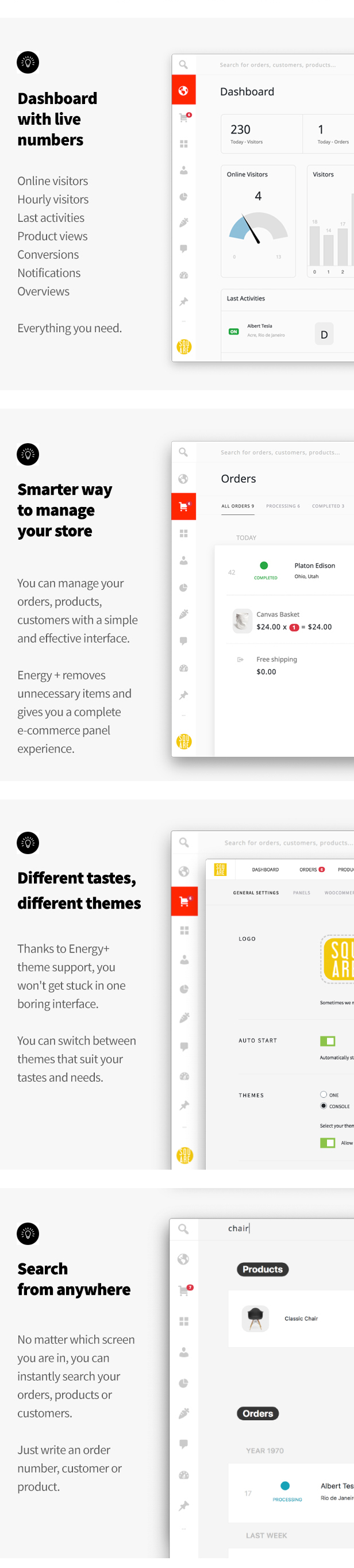 Energy+ A beautiful admin panel for WooCommerce